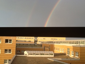 Double Rainbow from Hospital Window